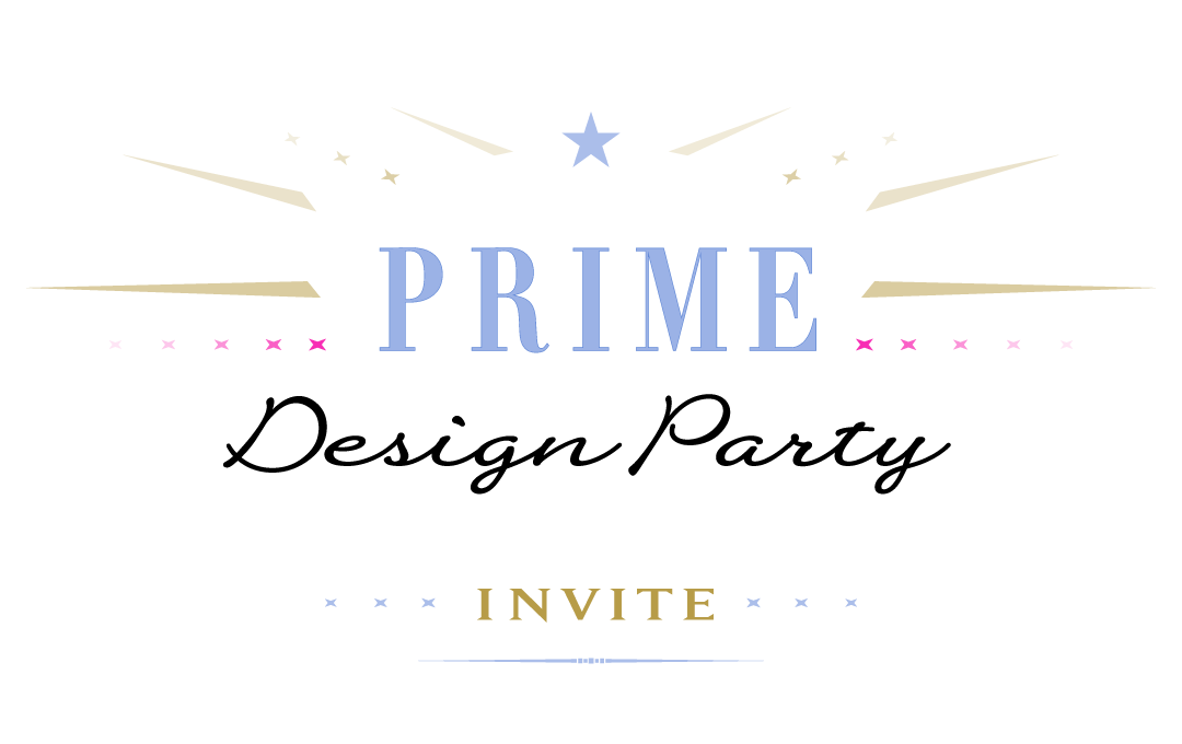 Prime Design Party - invite logo